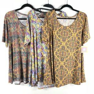 LuLaRoe Perfect T Shirt Women's XL Lot of 3